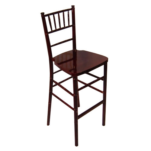 Chiavari Bar Stool Mahogany<br><br>$10.75 plus tax, includes cushion! Our new bar stools fit perfectly with our high top cocktail tables!