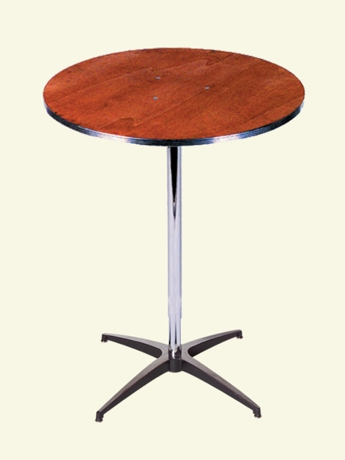 Round Cocktail Talls<br><br>Our cocktail tall tables are great for gathering around to have a cocktail, or pair the table with our new bar stools for seating! $11.00 plus tax