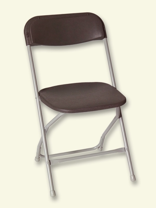 Brown Folding Plastic Chair<br><br>$1.20 plus tax
