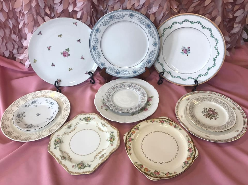 Vintage Plates<br><br>Our new mix and match vintage plates are a great way to add variety to your table-top!