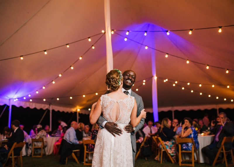 Tuscan Style Bistro Lighting<br><br>Photo by Katherine Elizabeth Photography