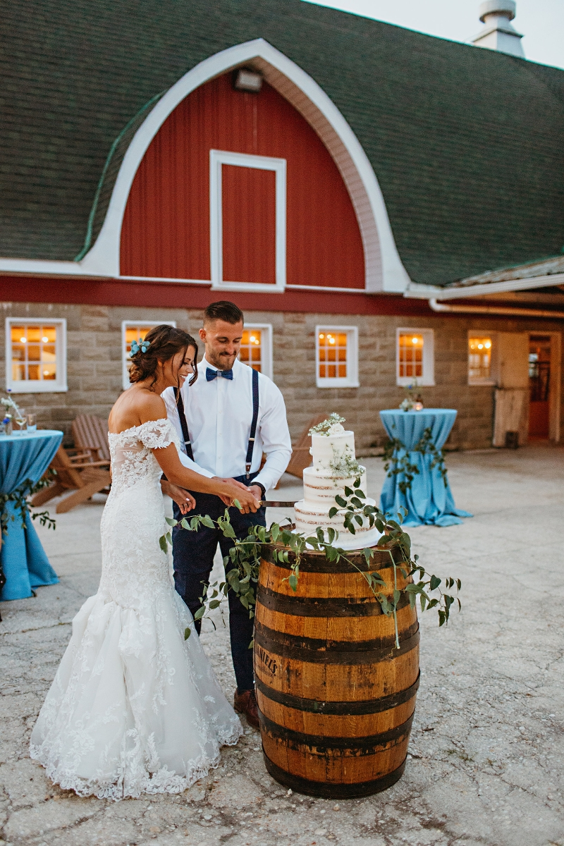 Wine Barrel<br><br>Our 35' tall wine barrels are great to use for cocktail tables for guests to stand around during cocktail hour, or simply just decor for your rustic or vineyard themed wedding or party!