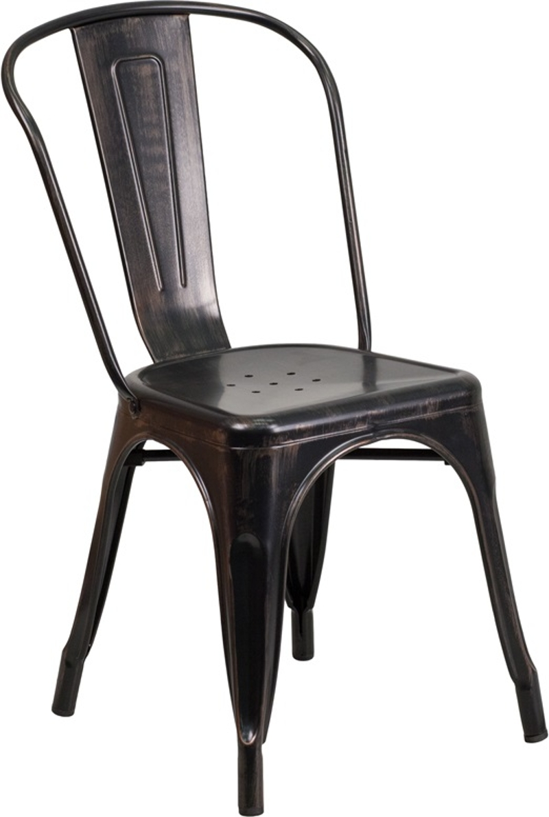 Market Bistro Chair Black w/ Antique Gold<br><br>$4.50 plus tax. NEW Market Bistro Chairs are what is trending in the event and decor industry!!! We are the only Delaware wedding rental company that offers these modern chic chairs, at a very affordable cost!