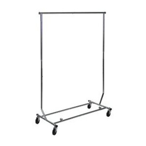 Garment Rack 4' Folding Stainless Steel<br><br>We also rent packs of 40 heavy duty coat hangers, perfect for your coat check room at your next event!