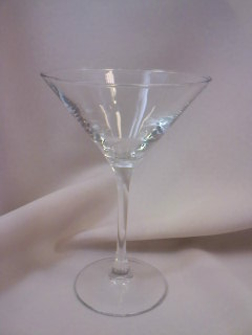 Martini 7.5 oz.<br><br>Martini Party anyone? Creating a personalized martini for your signature drink? Serving shrimp cocktail martinis during cocktail hour? Thinking about a mashed potato food station? If your answer is yes to any of these questions, then our Martini Glasses are for you!!!