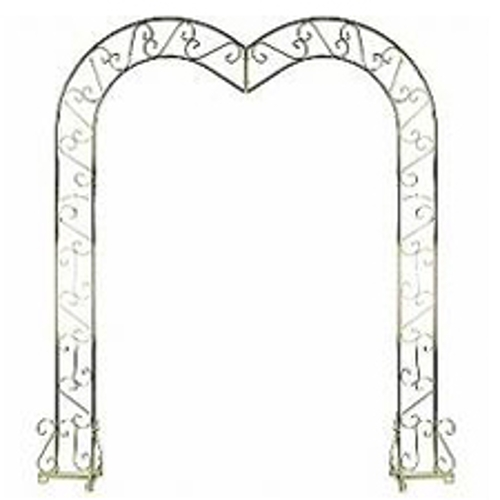 White or Brass Heart Shaped Archway<br><br>
