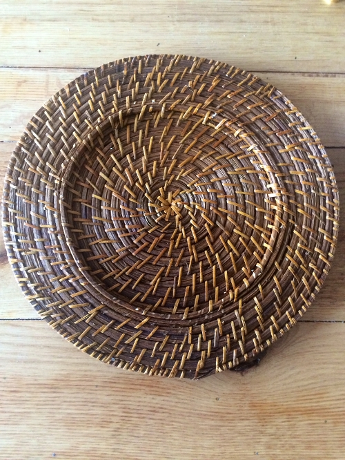 Rattan Charger<br><br>New Rattan Charger Plates are great for many themes; beachy, natural, or green!