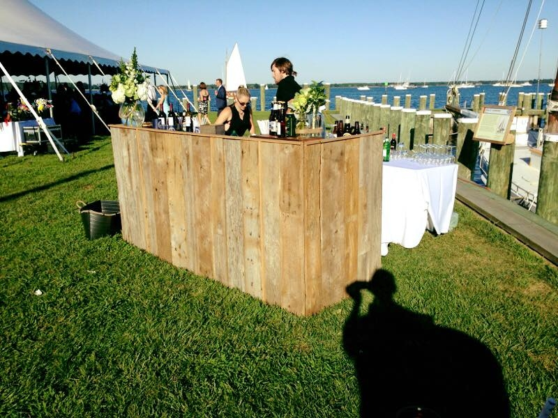 Re-claimed Wood Bar<br><br>This beautiful bar was built by Chip using local reclaimed barn wood.