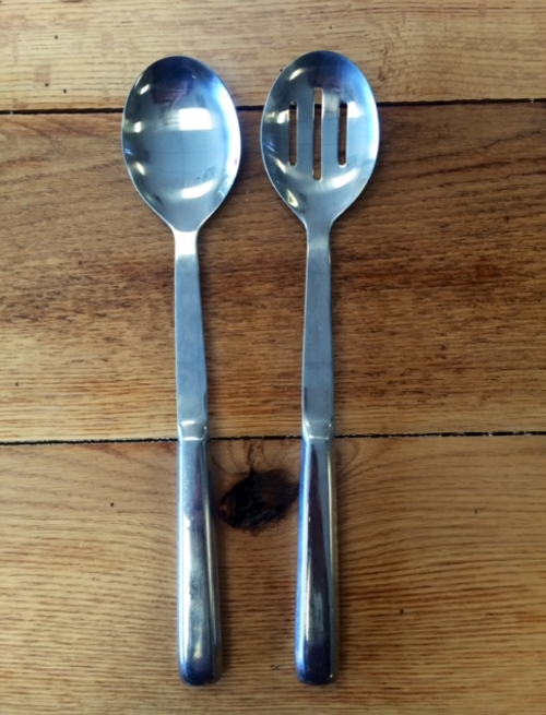 Serving Spoons<br><br>Available in Solid or Slotted.