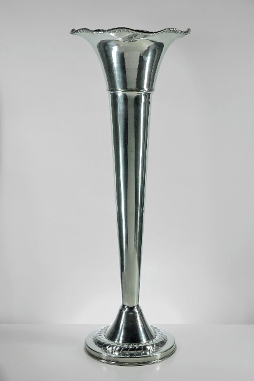 Silver Trumpet Vase<br><br>Available in 18', 22', and 24' heights.