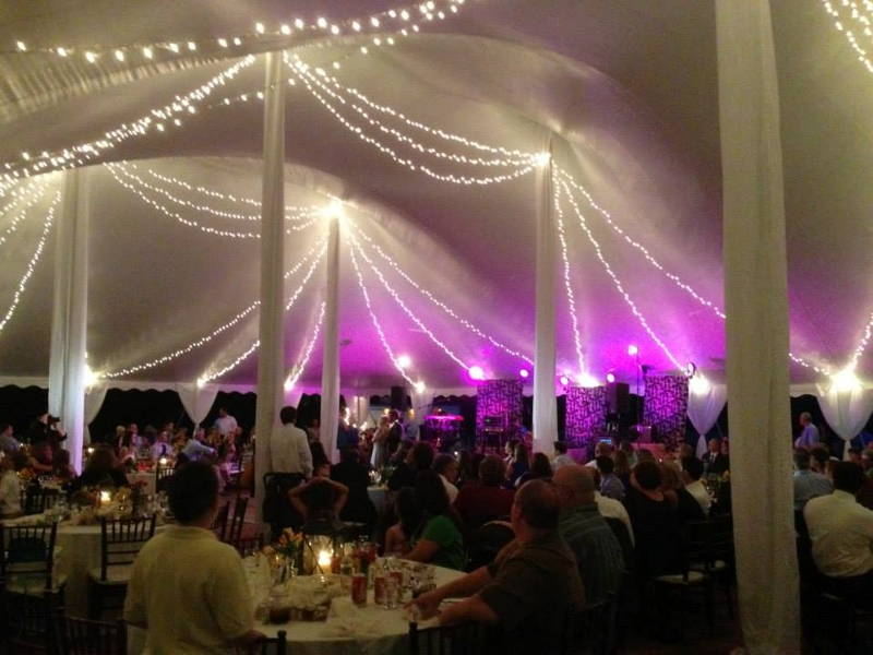 Swag Lighting<br><br>Shown in our 60x100 Pole Tent!