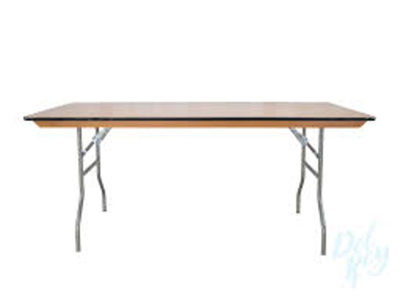 Banquet Tables - 6' or 8'<br><br>6' Banquet, to seat 6-8 guests $7.70 plus tax<br> 8' Banquet, to seat 8-10 guests $8.05 plus tax