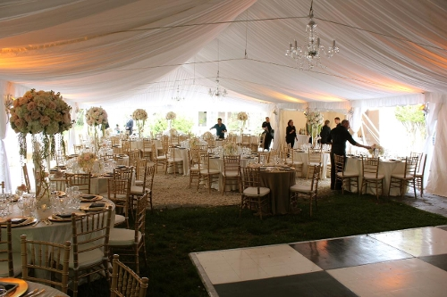 Ceiling Liner<br><br>Our full ceiling liners can be used in 30' wide frame tents or 40' wide frame or pole tents to soften the overall feel of the interior!