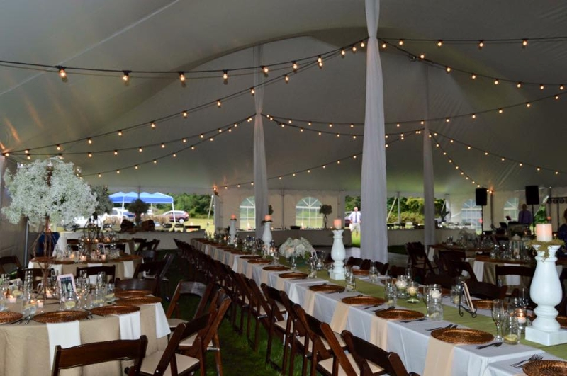 Tuscan Bistro Lighting Draped throughout our 60x100 Pole Tent! : pole tent lighting - memphite.com